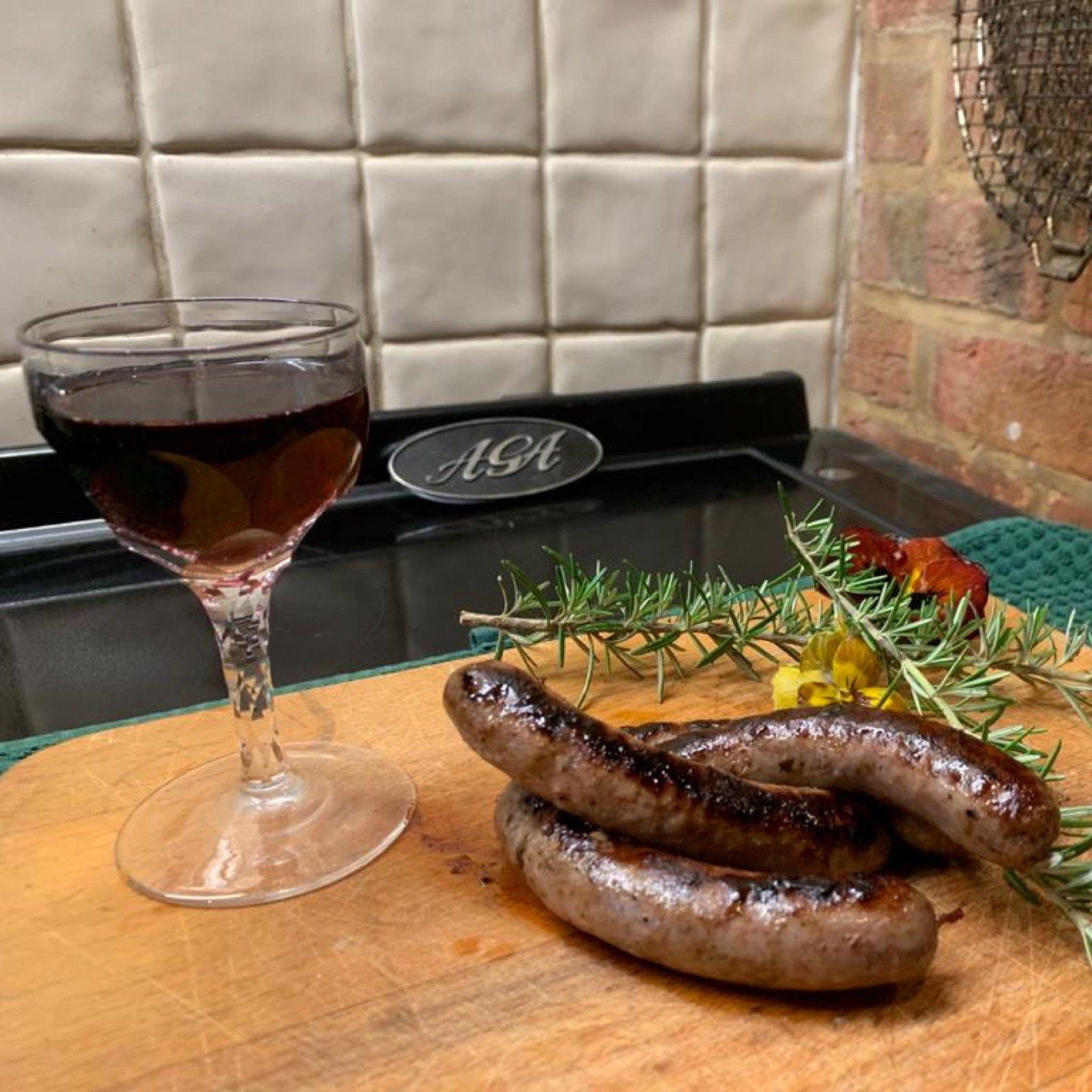 venison-red-wine-sausages