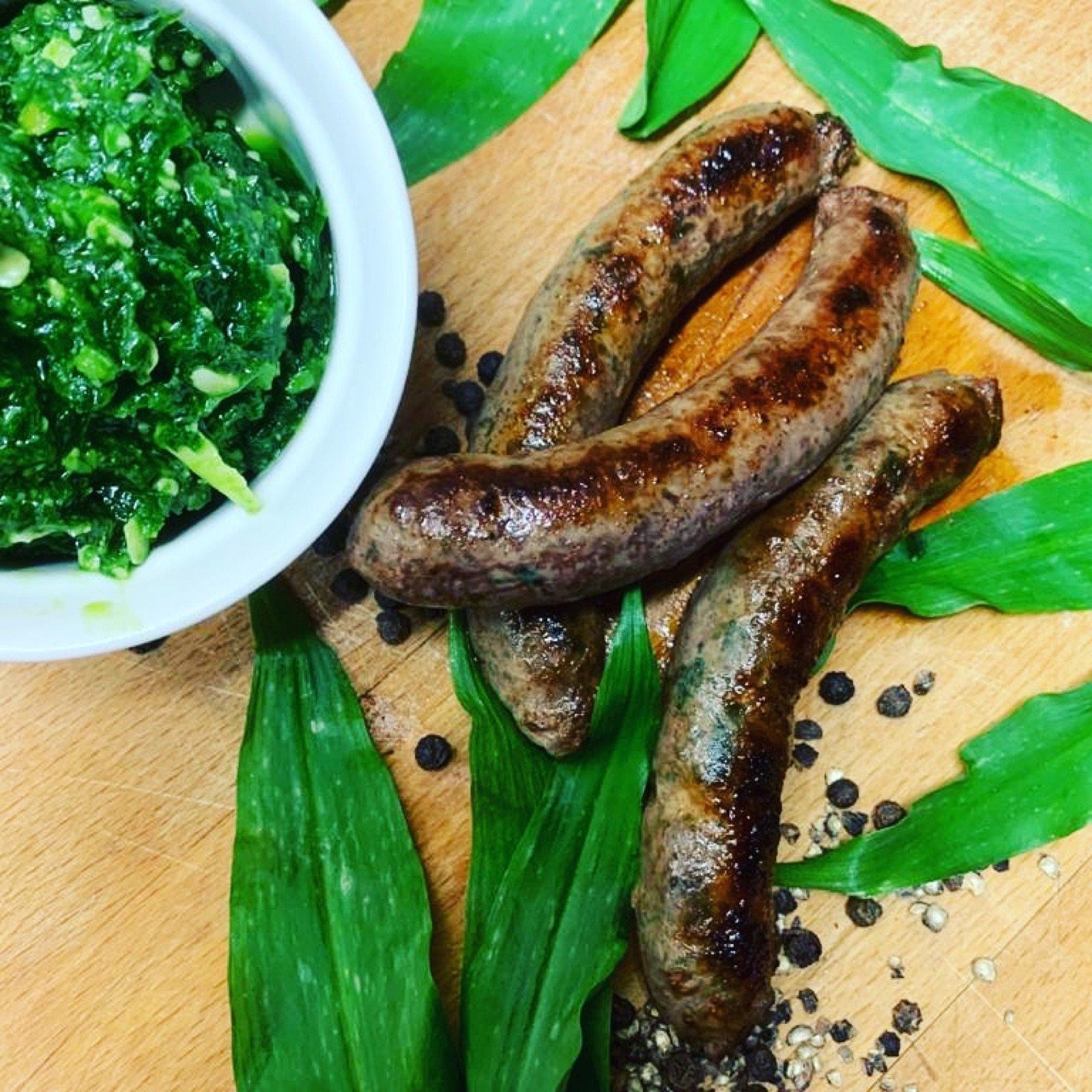 venison_wild-garlic-sausages